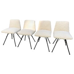 Set of Four Chairs by Gérard Guermonprez for Magnani Editions, France, 1950s