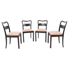 Set of Four Chairs by Jindrich Halabala, 1940's