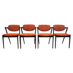 After Renovation Set of Four Chairs by Kai Kristiansen, Danish Design, 1960s