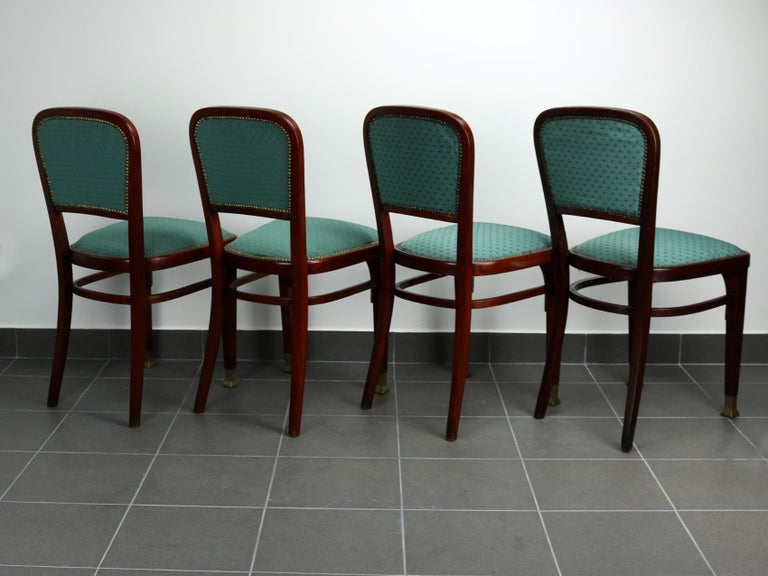 Vienna Secession Set of Four Chairs by Marcel Kammerer for Thonet, circa 1910 For Sale