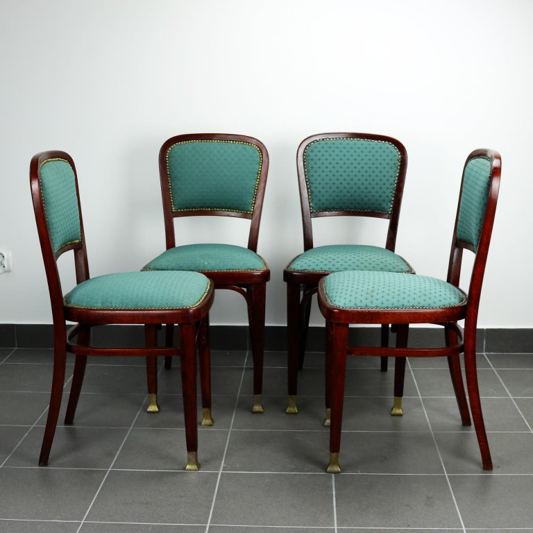 20th Century Set of Four Chairs by Marcel Kammerer for Thonet, circa 1910 For Sale