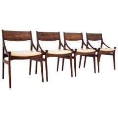 Set of Four Chairs by Vestervig Erikson, Danish Design 1960s