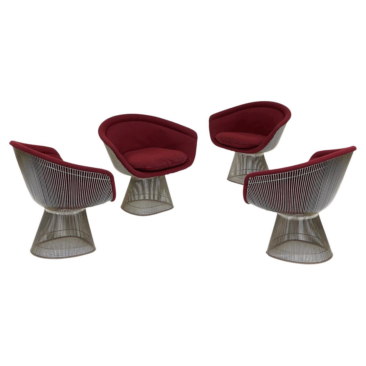 Set of Four Chairs by Warren Platner