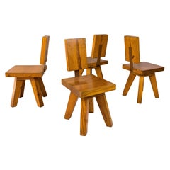 Set of Four Chairs, circa 1960, France
