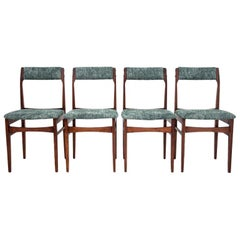 Set of Four Chairs Danish Design 1970s after Renovation