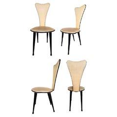 Set of Four Chairs Design Umberto Mascagni, 1960s