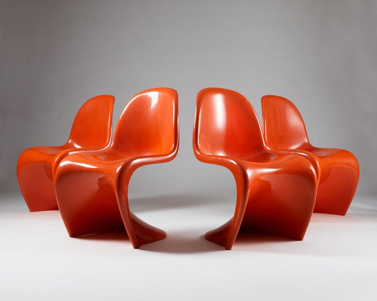 Set of Four Chairs, Designed by Verner Panton for Herman Miller, Usa, 1960s In Good Condition For Sale In Stockholm, SE