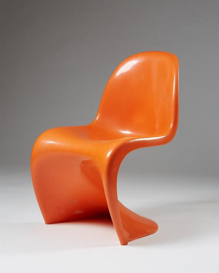 Mid-20th Century Set of Four Chairs, Designed by Verner Panton for Herman Miller, Usa, 1960s For Sale