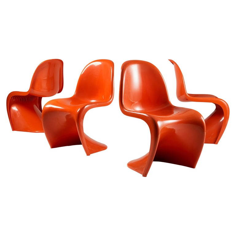 Set of Four Chairs, Designed by Verner Panton for Herman Miller, Usa, 1960s For Sale