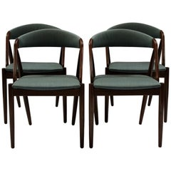 Set of Four Chairs, Model 31, by Kai Kristiansen and Schou Andersen, 1960s