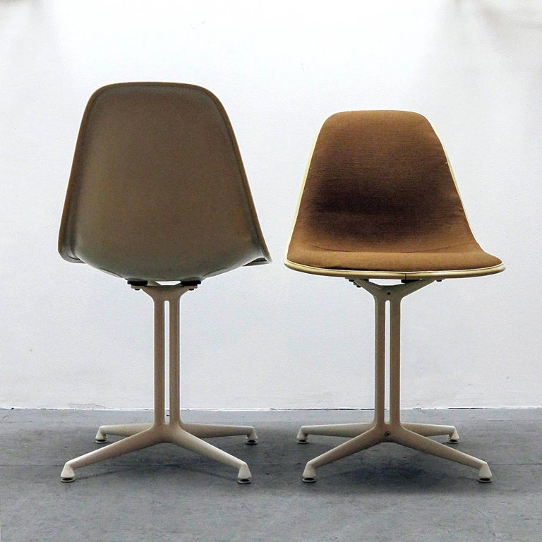 Mid-Century Modern Set of Four Charles and Ray Eames La Fonda Chairs For Sale