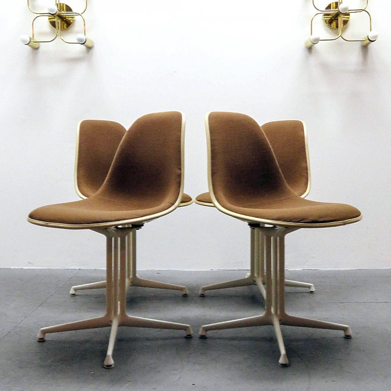 Powder-Coated Set of Four Charles and Ray Eames La Fonda Chairs For Sale