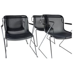 Set of Four Charles Pollock Penelope Chairs for Castelli