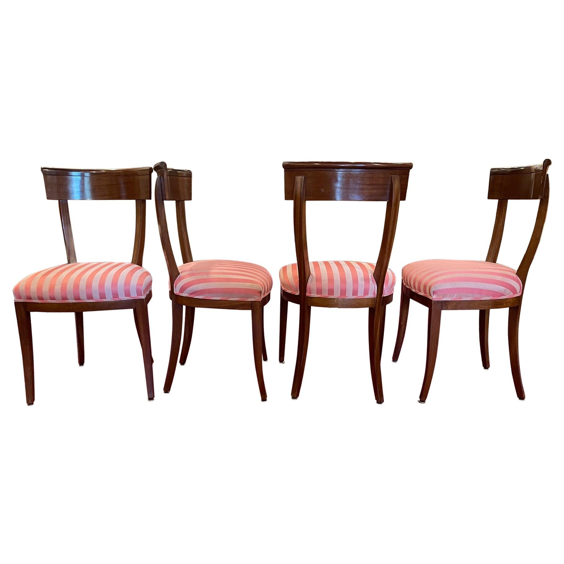 Set of Four Charles X Dining or Side Chairs, 19th Century