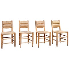 Set of Four Charlotte Perriand Chairs, circa 1950