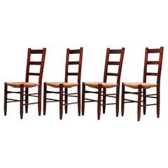 Set von vier Stühlen Charlotte Perriand Nr. 19