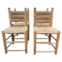 Set of Four Charlotte Perriand Style Chairs