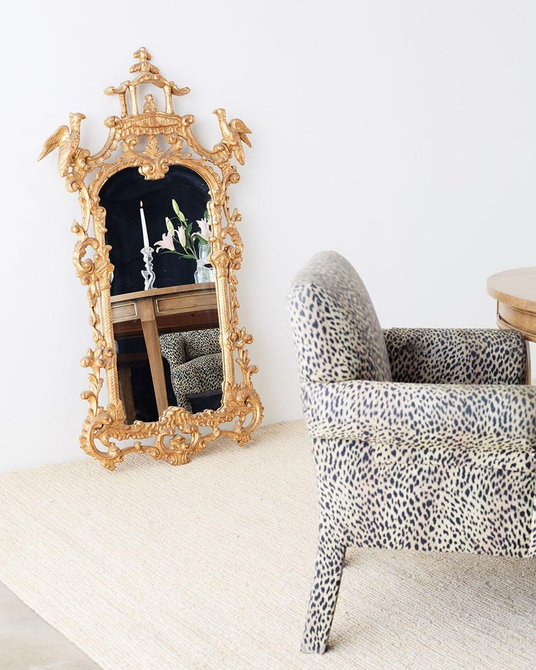 Set of Four Cheetah Leopard Upholstered Club Chairs For ...