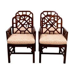 Set of Four Chinese Chippendale Chairs
