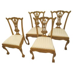 Set of Four Chinese Chippendale Dining Chairs