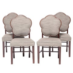 Set of Four Chinese Deco Dining Chairs, circa 1920s