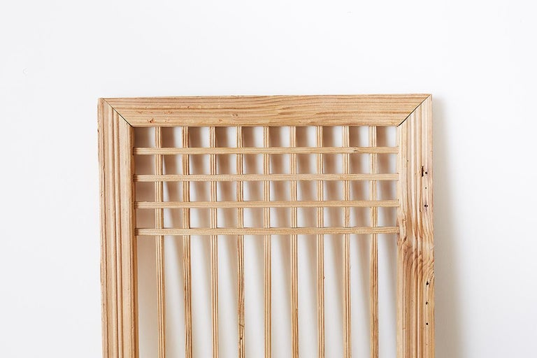 Set of Four Chinese Geometric Lattice Window Panels For Sale 3