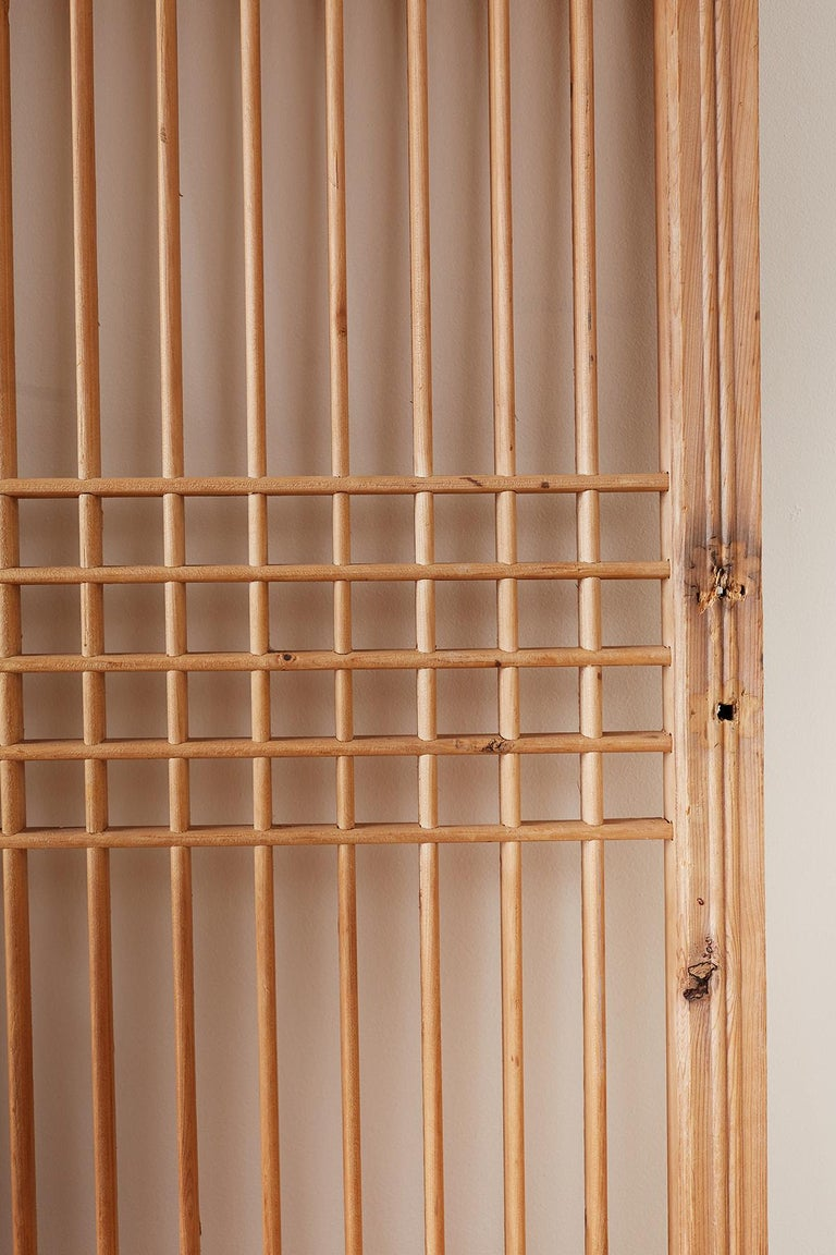 Set of Four Chinese Geometric Lattice Window Panels For Sale 10
