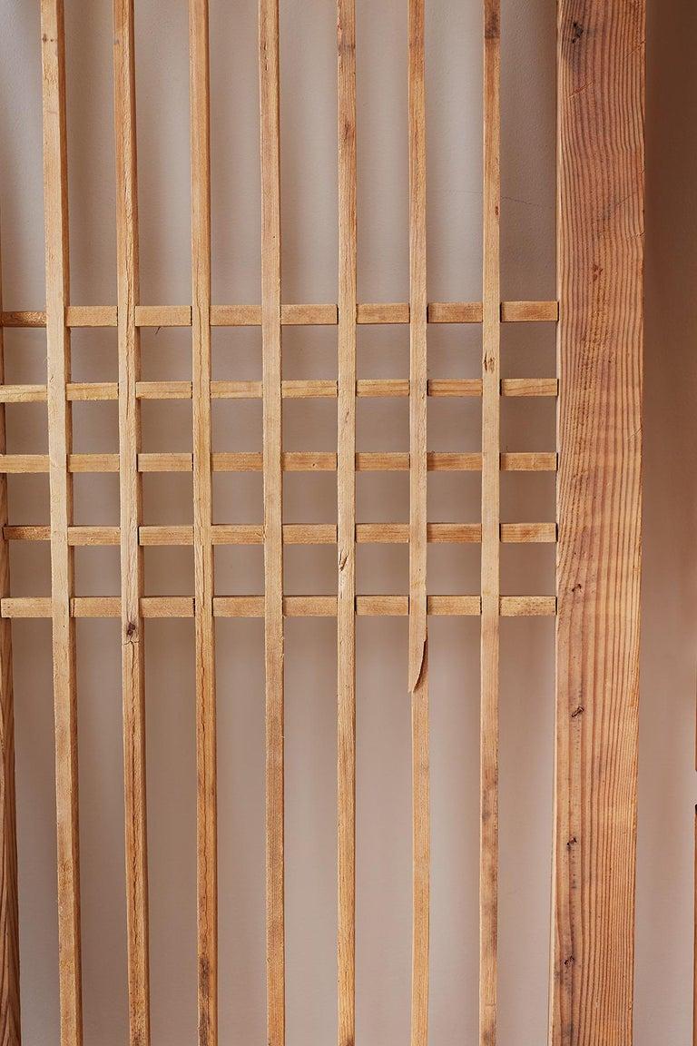 Set of Four Chinese Geometric Lattice Window Panels For Sale 11