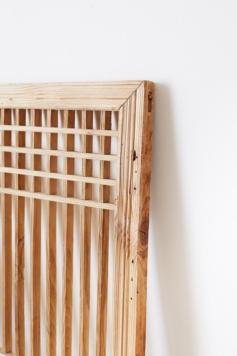 Set of Four Chinese Geometric Lattice Window Panels For Sale 2