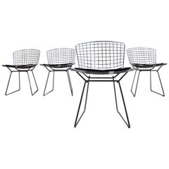 Set of Four Classic Chrome Side Chairs Designed by Harry Bertoia for Knoll