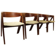 Set of Four Compass Chairs by Allan Gould