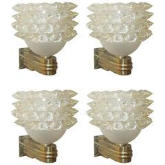 Set of Four Contemporary Barovier Toso Sconces