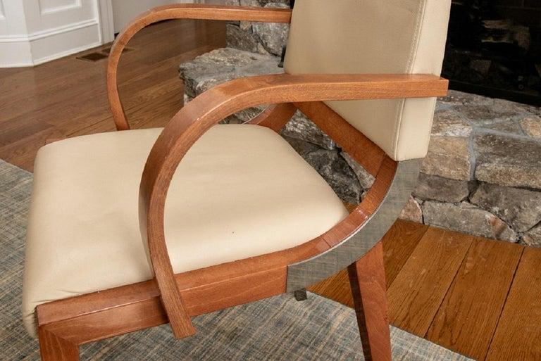 Set of Four Contemporary Costantini Pietro Italian Made Designer Dining Armchair For Sale 4