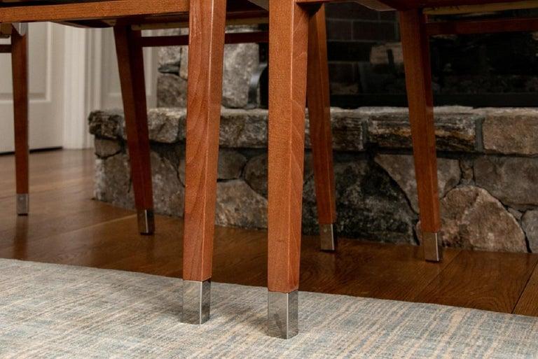 Set of Four Contemporary Costantini Pietro Italian Made Designer Dining Armchair For Sale 6