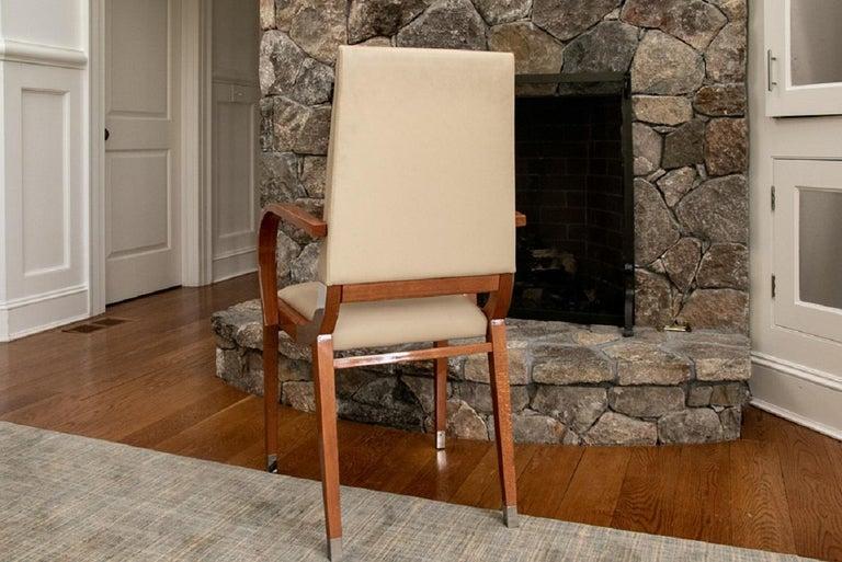 Modern Set of Four Contemporary Costantini Pietro Italian Made Designer Dining Armchair For Sale