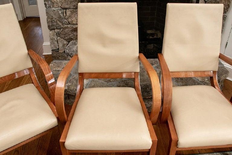 Set of Four Contemporary Costantini Pietro Italian Made Designer Dining Armchair In Good Condition For Sale In Bridgeport, CT