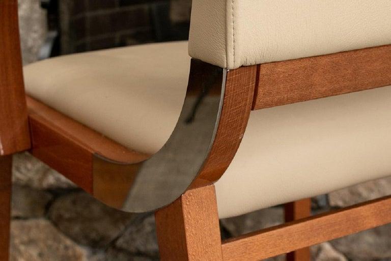 Set of Four Contemporary Costantini Pietro Italian Made Designer Dining Armchair For Sale 1