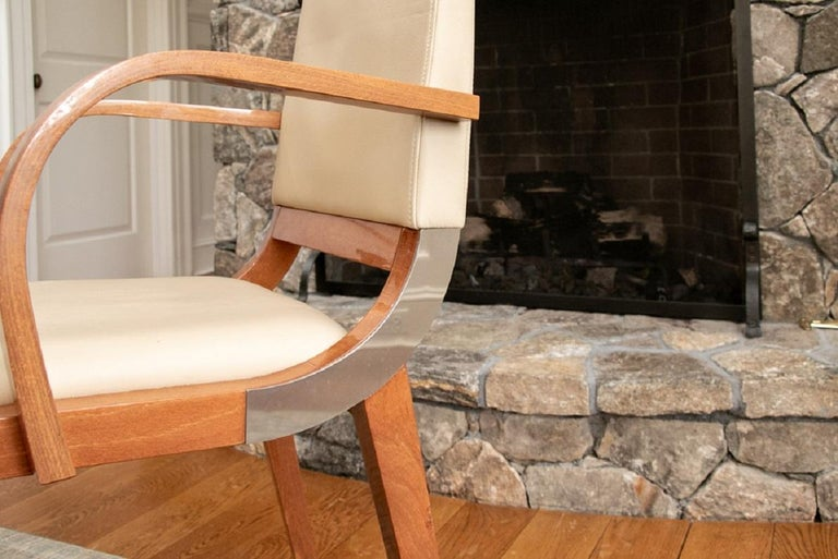 Set of Four Contemporary Costantini Pietro Italian Made Designer Dining Armchair For Sale 2