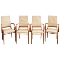 Set of Four Contemporary Costantini Pietro Italian Made Designer Dining Armchair