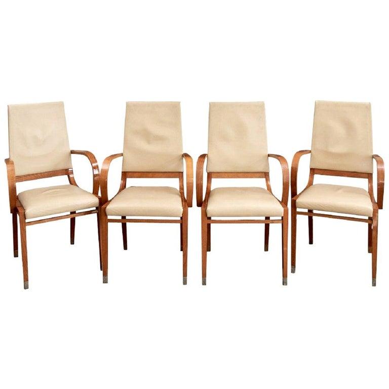 Set of Four Contemporary Costantini Pietro Italian Made Designer Dining Armchair For Sale