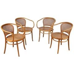 Vier Corbusier Sessel von Michael Thonet, Deutschland 1920
