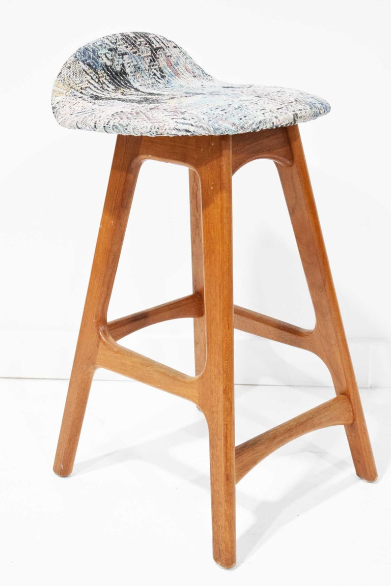 Set of Four Counter Height Stools by Erik Buch, 1960s In Good Condition For Sale In Dallas, TX