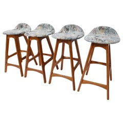 Set of Four Counter Height Stools by Erik Buch, 1960s