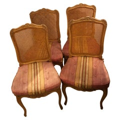 Set of Four Country French Custom Quality Side Chairs in New Fabric