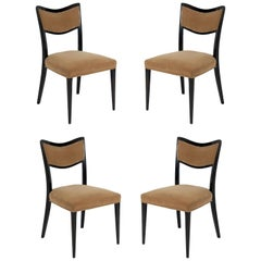 Set of Four Curvaceous Dining Chairs by Harvey Probber