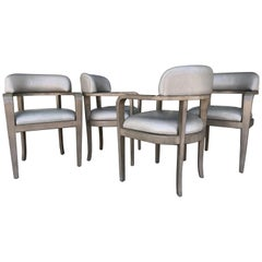 Set of Four Custom Modern Game or Dining Chairs
