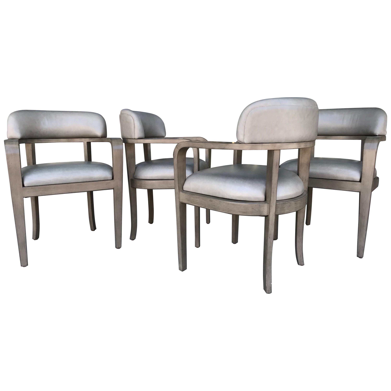 Set of Four Custom Modern Game or Dining Chairs For Sale  sc 1 st  1stDibs & Set of Four Custom Modern Game or Dining Chairs For Sale at 1stdibs