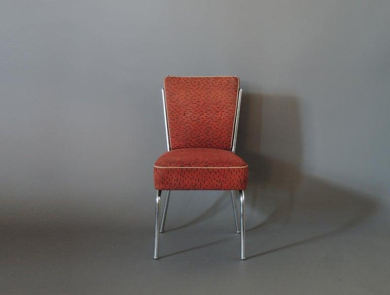 Art Deco Set of Four Czech 1930s Tubular Chrome Chairs For Sale