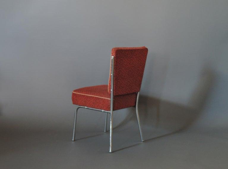Set of Four Czech 1930s Tubular Chrome Chairs For Sale 1