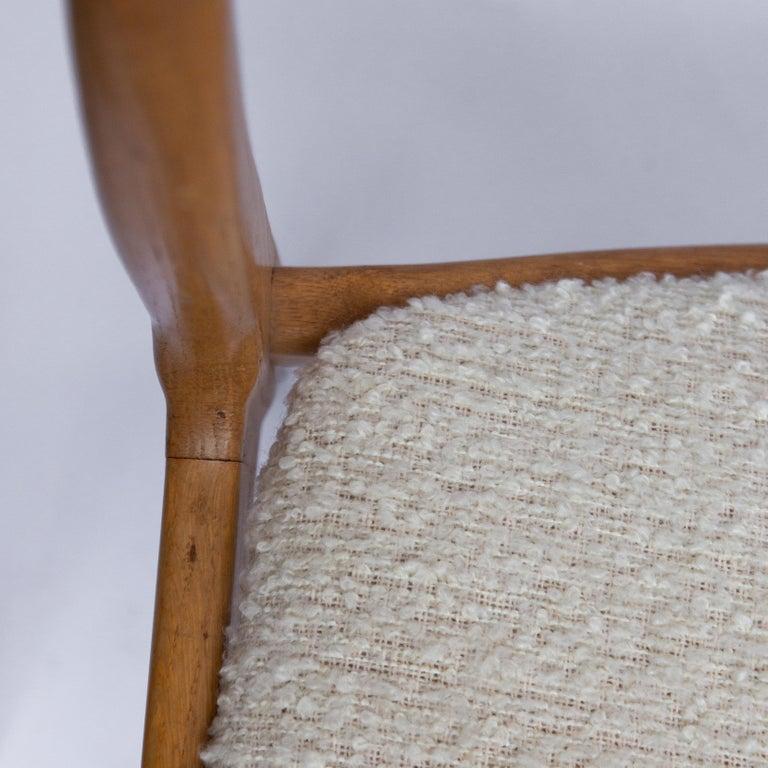 Set of Four Danisch Midcentury Oak Dining Chairs, 1950s 3